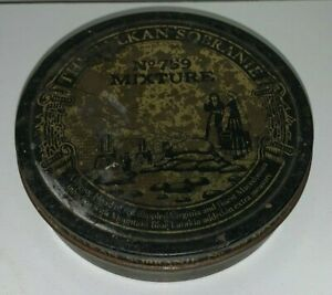 Vintage, THE BALKAN SOBRANIE, No.759 MIXTURE, TOBACCO TIN (4 Inch Diameter)