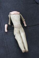 Antiker Puppenkörper  Lederkörper 27 cm
