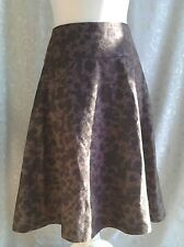 NAUGHTY Brown Wool Felt Skirt ..Size 4 fits UK 16 .. New