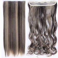 US Seller Clip in hair extensions one piece half full head human Long 17-30inch