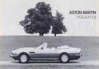 Aston Martin V8 Volante circa 1978-79 Original UK Sales Brochure