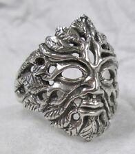 Green Man Ring Wild Nature Woodsman of Regeneration Jewelry Size 8 #R520-8