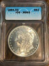 1884 Carson City Minted Morgan Silver Dollar--ICG MS63--Beautiful 90% SILVER