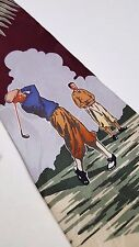 TOMMY Bahama TIE Golf NEW Mens NWT Wine BURGUNDY Multicolor SILK Vintage USA Man