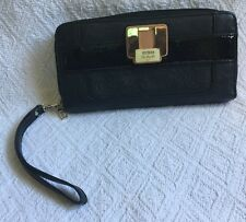 GUESS Black with Compartments for ID Credit Cards - Wallet Organizer Wristlet