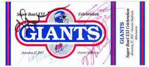 OJ Anderson NY GIANTS SIGNED SB 21 Celebration full ticket + 3 others ~ JSA cert