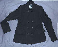 SUPERDRY Japan -Wool blend Modern  Peacoat-Size XLarge Fitted-Black-Very nice.