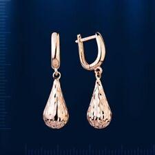 Russian Rosegold 14k/ 585 drop dangle EARRINGS sparkling NWT