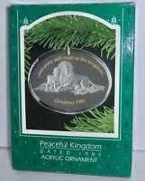 Hallmark Keepsake Christmas Ornament 1985 PEACEFUL KINGDOM Acrylic   H16