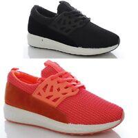 Sneakers basse donna sportive nere rosa scarpe ginnastica 36 37 38 39 40 41