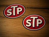 2x STP Aufkleber Öl Vintage Retro Look Old School Oldtimer Rally V8 Offroad #091
