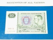 More details for 1979 crisp swedish 10 kronor note sveriges riksbank banknotes of all nations