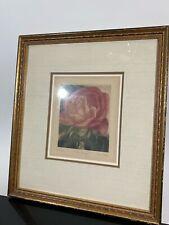 VTG Pencil Signed G.H. ROTHE Limited Edition Rose Flower Art Print Etching