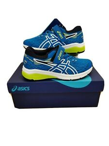 Asics GT 1000 7 PS Kids Trainers Race Blue/Neon Lime 1014A006-402