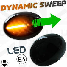 Smoked LED DYNAMIC sweep side indicator repeater flasher fits BMW Mini 2006-15