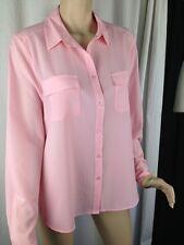 BNWT Womens Sz 18 Mix Brand Silky Feel Pastel Pink Long Sleeve Classic Shirt