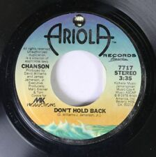 Pop 45 Chanson - Don'T Hold Back / Did You Ever On Ariola