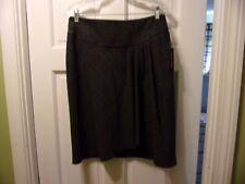 NWT Courtenay Size 8 Gray Plaid with Sparkle Career Skirt Knee Length Slant Side