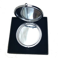 Pocket mirror silver color Personalized engraved wedding gift, Christmas gift