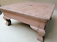 Antique Wooden foot stool Altar Bajot Low height sitting or table Display decor
