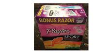 Playtex Sport Fresh Balance 32-ct Tampons Pack + Bonus Schick Hydro Silk Razor