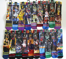 Stance NBA Legends Socks Mens L/XL NWT Ewing Shaq Rodman Kemp Run TMC + More