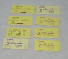 8 Vintage Paris Metro Autobus Tickets Used 1992 RATP 19193