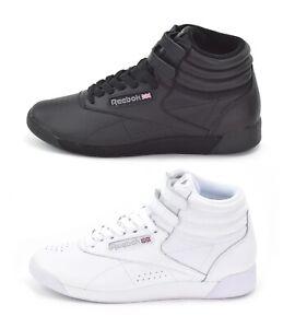 Reebok Freestyle Hi - Womens Classic Hi-Top Trainers - Black 2240 or White 2431