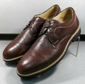 204870 WT50 Mens Shoes Size 11 W Brown Leather Lace Up Johnston Murphy Walk Test