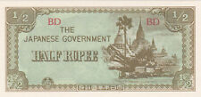 1/2 RUPEE UNC BANKNOTE FROM JAPANESE OCCUPIED BURMA 1942 PICK-13