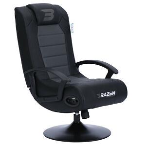 BraZen Bluetooth Gaming Chair - Stag 2.1 Surround Sound Speakers - Grey