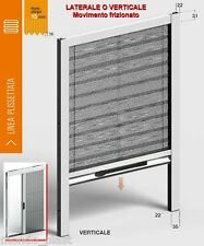 Zanzariera su misura Plissé x porte  finestre MINIMO INGOMBRO 22mm Telo colorato