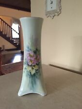 Gorgeous Antique H & Co Selb Bavaria Heinrich Hand Painted Vase Signed Troy