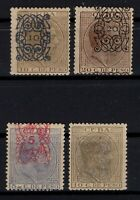 P125509 / SPANISH KUBBA STAMPS / EDIFIL # 81 – 82 – 83 - 84 / MH* CV 110 $