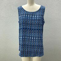 NWT Investments Reversible Cami Tank Top Women's M Blue Scoop Neck Sleeveless
