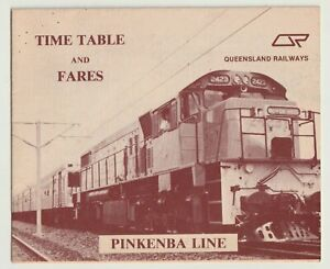 VINTAGE 1984 PINKENBA LINE QUEENSLAND RAILWAYS TRAIN TIMETABLE DIESEL DAYS EXC!!