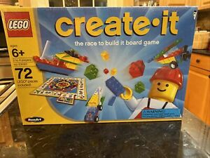 NEW SEALED Lego Create It The Race To Build it Board Game 1999 RoseArt AGES 6 +
