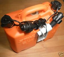 Stihl Chainsaw Fuel Oil Combi Canister Orange Can Auto Shut Off Spouts Tracked