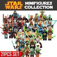 21Pcs Set Star Wars 501st Legion Clone Trooper Minifigures Custom Lot For Legos