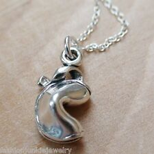 Fortune Cookie Necklace - 925 Sterling Silver - Fortune Charm Good Luck Cookie