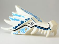LEGO - Dragon Head (Ninjago) Upper Jaw w/ Blue and Dark Blue Ice Spirit Pattern