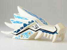 LEGO - Dragon Head (Ninjago) Upper Jaw w/ Blue and Dark Blue Ice Spirit Pattern