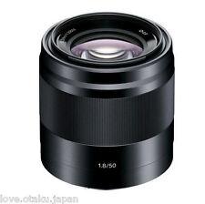 Sony E 50mm F1.8 OSS Black E-mount NEX Series Camera Lens NEW EMS FS 50 mm F/1.8