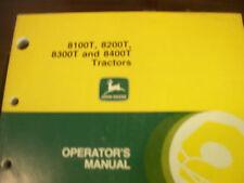 John Deere Tractor Operator'S Manual 8100T,8200T,8300T, 8400T Tractors Issue F7