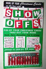 Vintage CHRISTMAS SHOW OFFS Christmas Card Holder ORIGINAL BOX & Un-Opened