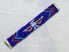 Perlenband Thunderbird blau 11 Reihen mini Perlen Indianer Dekoband Basteln Deko