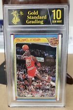 1988 Fleer Michael Jordan All Star #120 Reprint Card w/ Trump GSG Gem Mint 10