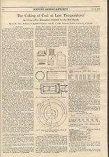 1913 Coking Coal Coke Temperatures Diagrams Samples Scientific American Article