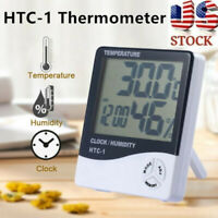 HTC-1 Thermometer Indoor Digital LCD Hygrometer Temp Humidity Meter Alarm Clock
