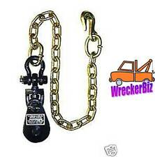 4 TON SNATCH BLOCK with Chain FOR WRECKER, TOW TRUCK, ROLLBACK, CARRIER, HAULER